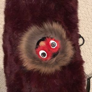 New Annabelle fur monster face infinity scarf $350